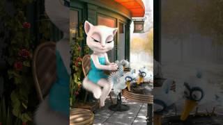 Кошка Анжела. обзор игры talking Angela cat