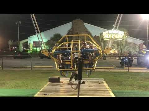 Super Martinez - Cable de Slingshot Ride en la Florida se rompe justo antes del despegue