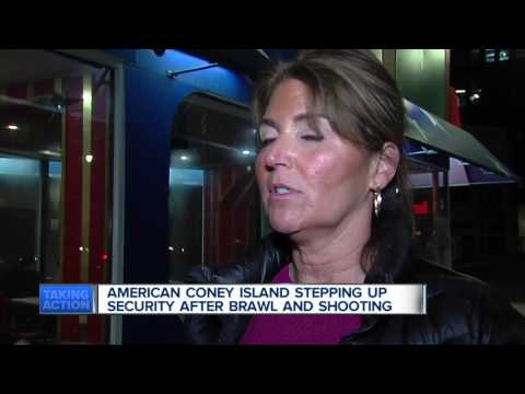 Brawl and shooting in American Coney Island