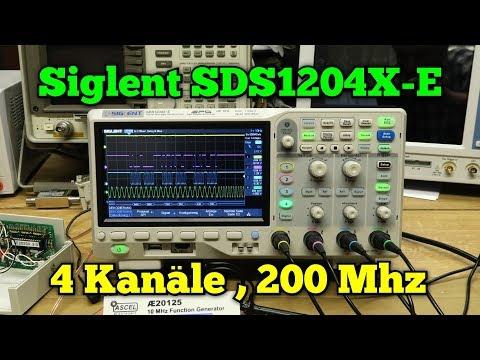Oszilloskop Siglent SDS1204X-E:. 4 Kanäle/200Mhz
