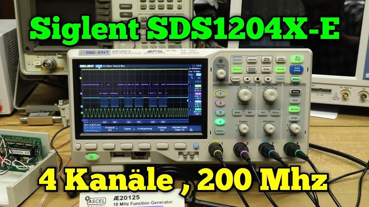 Oszilloskop Siglent Sds1204x-E:. 4 Kanäle/200mhz - Elektronik ...