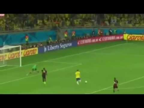 Brazil vs Germany 1-7,Goal Oscar,  World Cup 2014