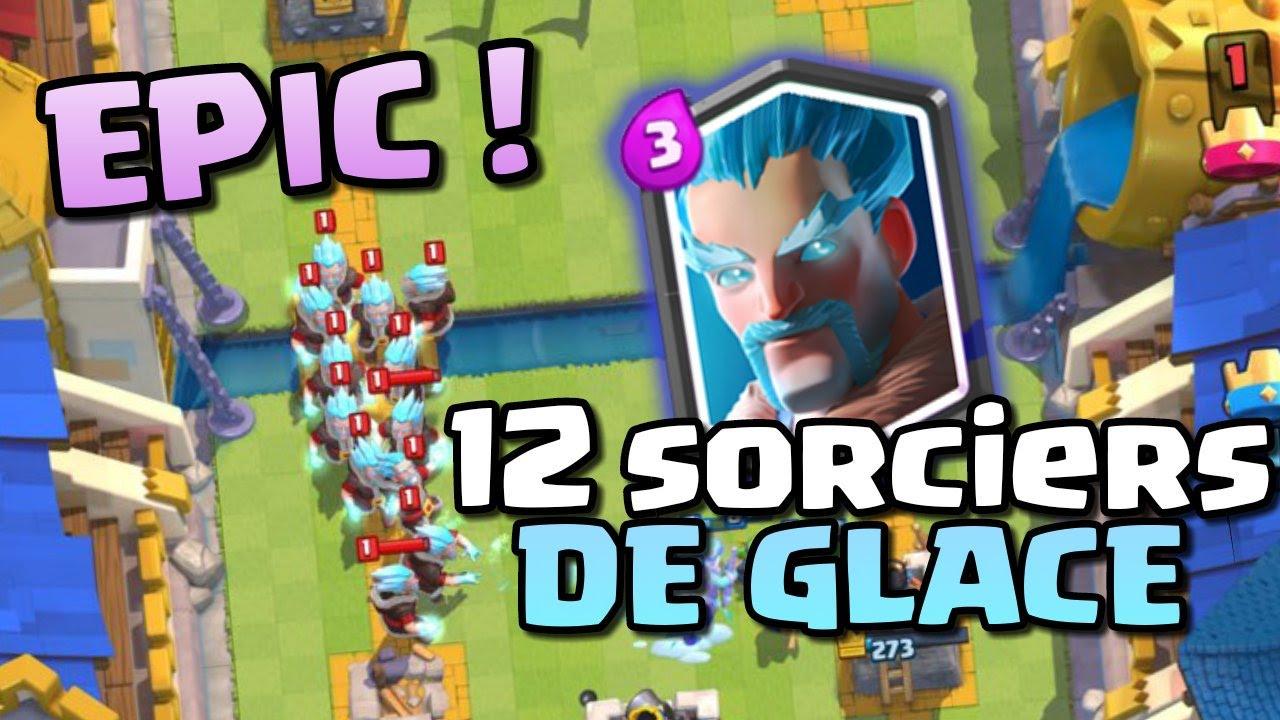 Clash royale fr epic attaque avec 12 sorciers de glace for Deck clash royale sorcier de glace