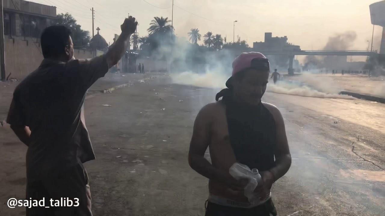 مظاهرات ساحة التحرير 2019/10/2 توثيق الاعتداءات المستمرة من مكافحة الشغب وقوات مجهولة