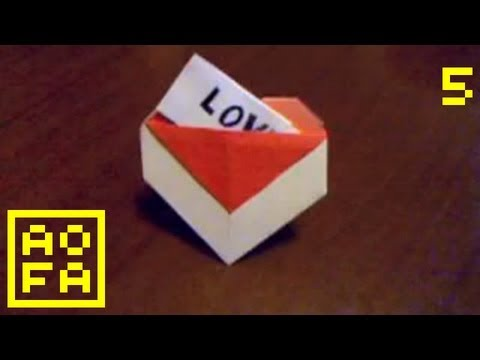 Papercraft How to make an Origami Heart with a Pocket ...for all (05)
