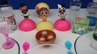 LOL CONFETTİ POP Bebekler ile Konfeti Slime Challenge. 3 Farklı Şeffaf Slime Tarifi, Bidünya Oyuncak