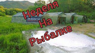 НЕДЕЛЯ ОТДЫХА НА РЫБАЛКЕ часть первая ЛОВЛЯ СИМЫ Сахалинская рыбалка Sakhalin fishing