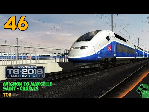 TGV Voyages Train Simulator - Avignon a Marseille Saint - Charles - FAIL | Gameplay Español