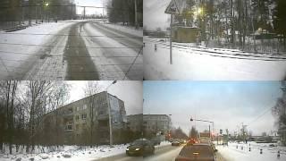 Автомобильный видеорегистратор на 4 камеры(Автомобильный видеорегистратор на 4 камеры Звук отключил, чтобы не палить разговоры :), 2011-01-26T01:40:50.000Z)