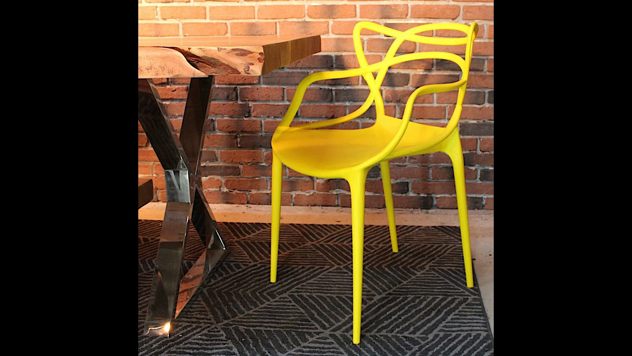 Philippe Starck Style Masters Chair - Yellow - YouTube