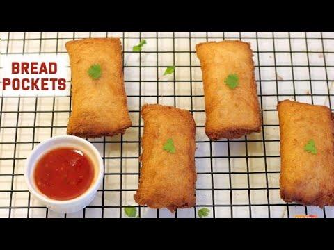 Bread Pockets | Snack Recipe | Easy Bread Recipes
