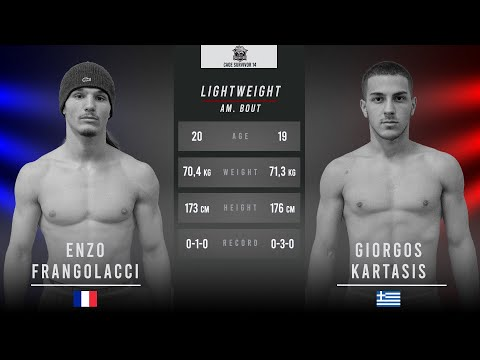 Cage Survivor 14: Enzo Frangolacci vs. Giorgos Kartasis Full Fight