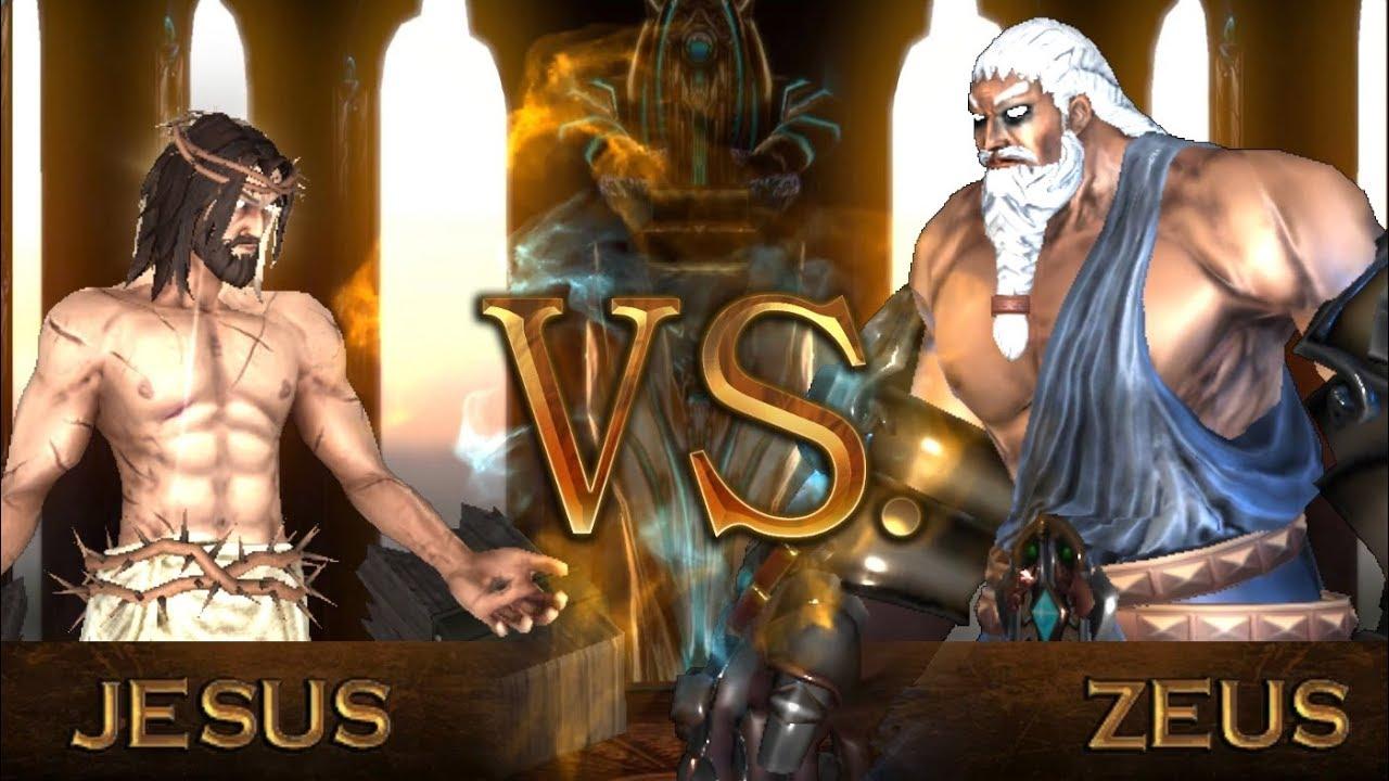 jesus vs zeus fight of gods youtube
