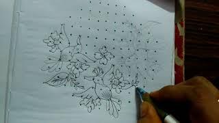Easy Rangoli designs...birds...latest N creative 13 to 5 dots..