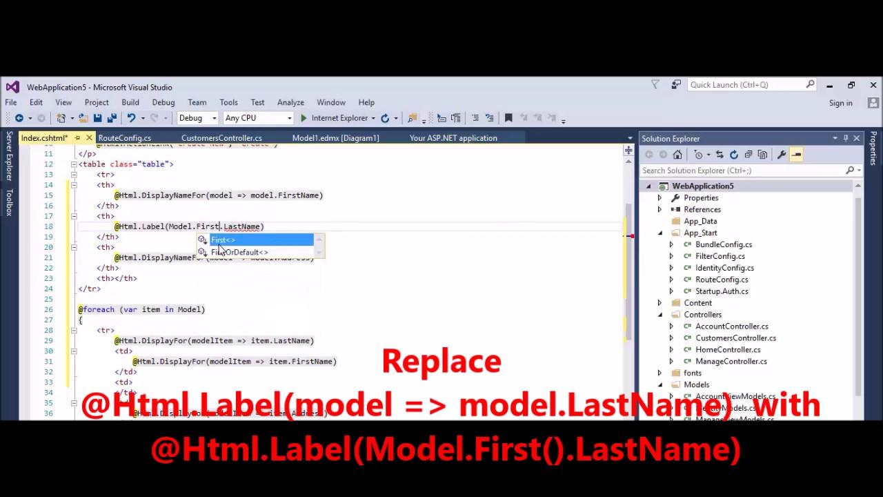 MVC - Fix Error - CS1660 Cannot convert lambda expression to type 'string'  because
