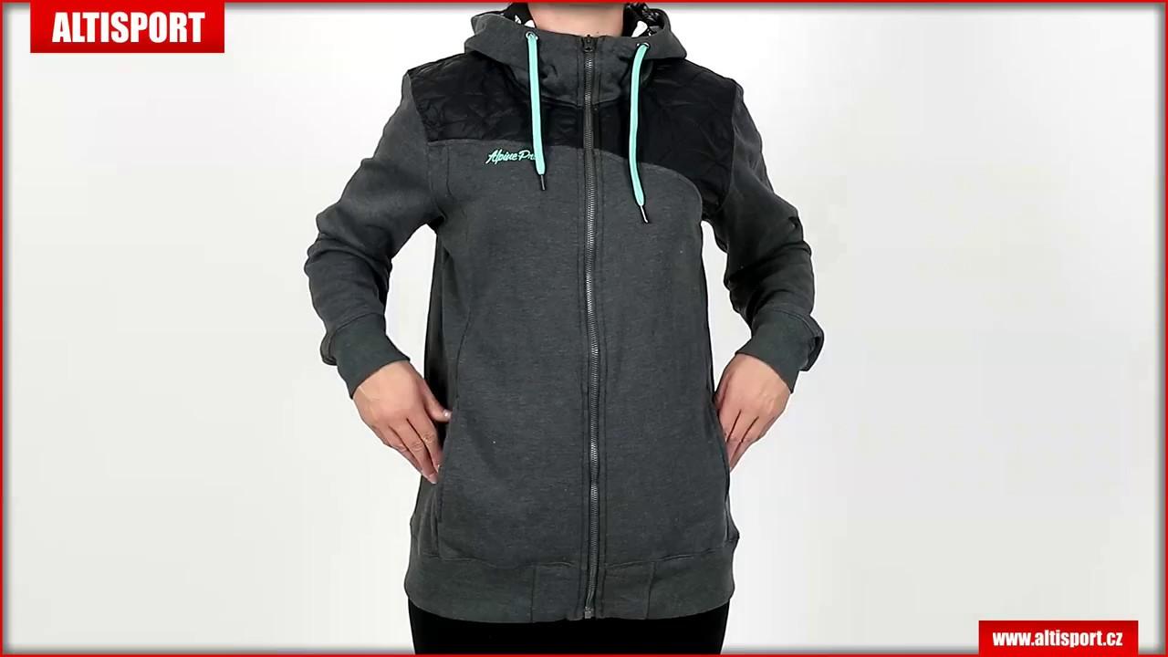30199a8847e dámská mikina s kapucí alpine pro remina lswk098 světle šedá - YouTube