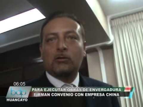 FIRMAN CONVENIO CON EMPRESA CHINA.