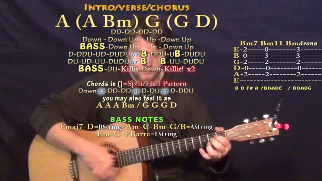 Kids One Republic Guitar Lesson Chord Chart In D Major A