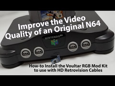 Improve the Video from the Nintendo 64 Using Voultar's RGB Mod Kit & HD Retrovision Component Cables