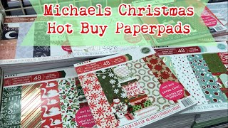 🌲 New Hot Buy Paper Pads / CHRISTMAS 2017/ Michaels shop with me