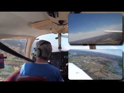S-Turns and Landings at Capital City Airport. Multi Camera S