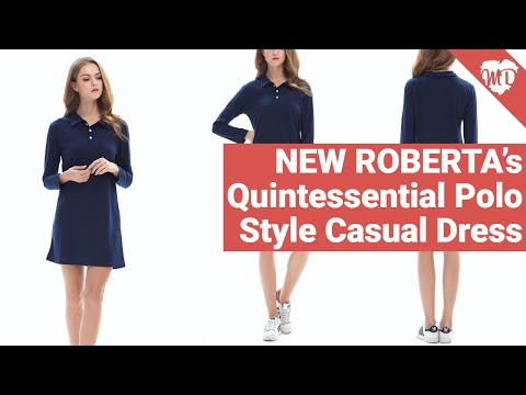 NEW ROBERTA's Quintessential Polo Style Casual Dress