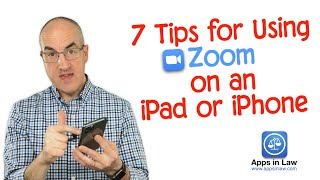 7 Tips for Using Zoom on an iPad or iPhone