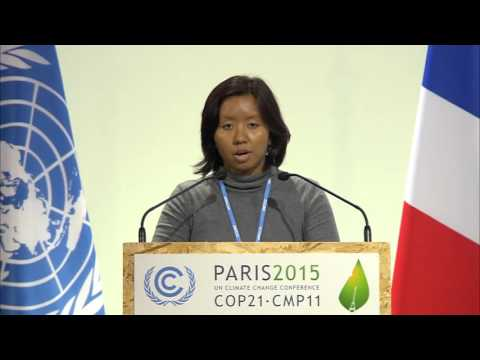 Singapore youth delivers speech at Paris climate talks