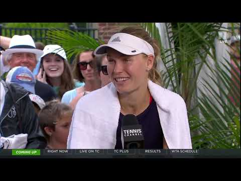 Caroline Wozniacki - 2019 Charleston Semifinals Tennis Channel Desk Interview