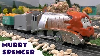 Thomas and Friends Toys Trackmaster Muddy Spencer Thomas y sus Amigos Toy Train きかんしゃトーマス