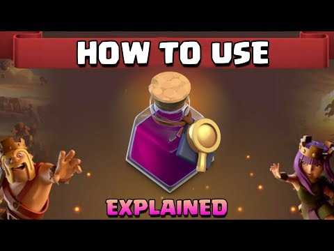CLASH OF CLANS : How To Use Magical Item ( Research Potion ) In Clan Games , League Shop