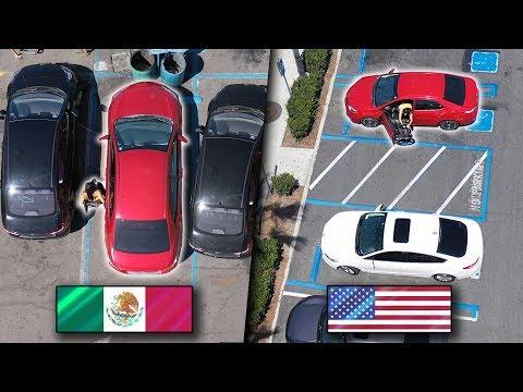 Estacionamientos   México VS Estados Unidos