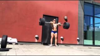 Hang power clean: 95 x 6 reps by Mia Åkerlund