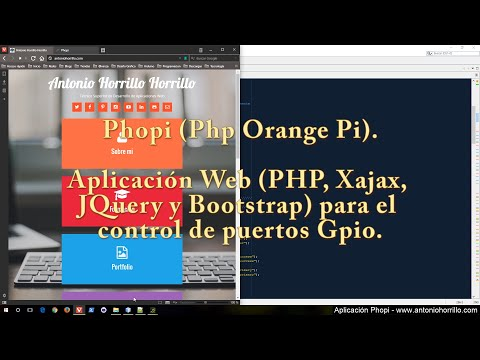 App Web para el control de puertos Gpio, Phopi (Php Orange Pi).