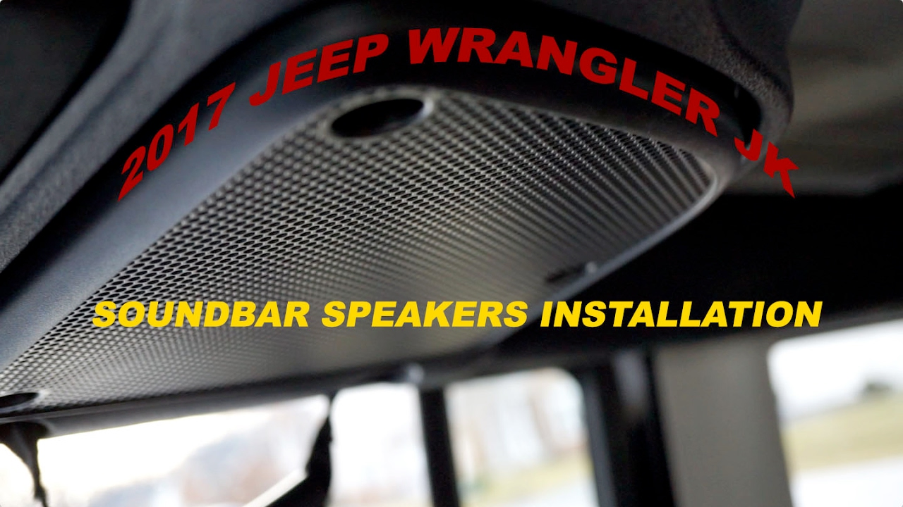 How to replace stock soundbar speakers on 2017 Jeep Wrangler JK with Kicker speakers  YouTube