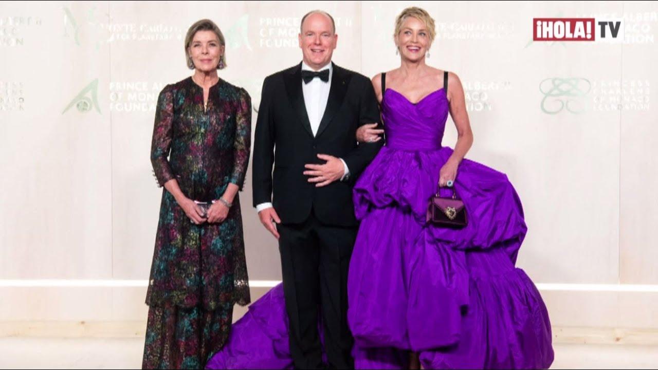 Alberto y Carolina de Mónaco se vistieron de gala junto a Sharon Stone en el Palacio | ¡HOLA! TV