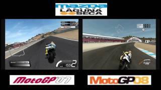 MotoGP 07 vs MotoGP 08: LAGUNA SECA