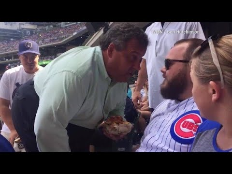 Chris Christie confronts fan at baseball game
