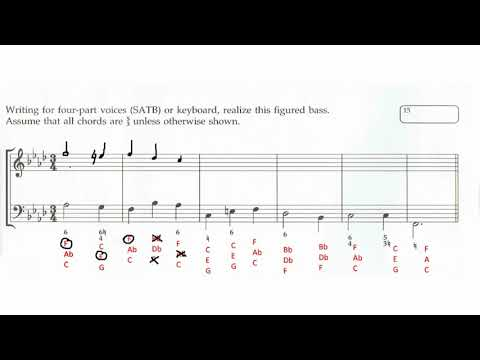 Figured Bass Realization Walkthrough | ABRSM Grade 6 Music Theory