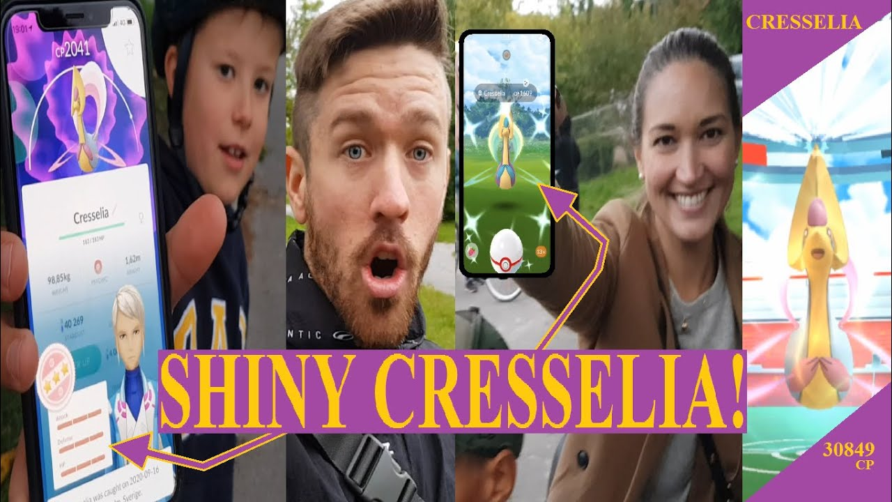 Pokemon GO på Svenska | SHINY CRESSELIA! | FICK SE EN 100%... | Johans Pokemon GO