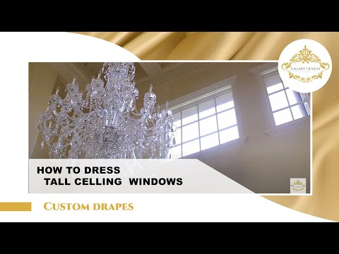 Video #6: High Ceiling Living Room Curtain Design | Custom M