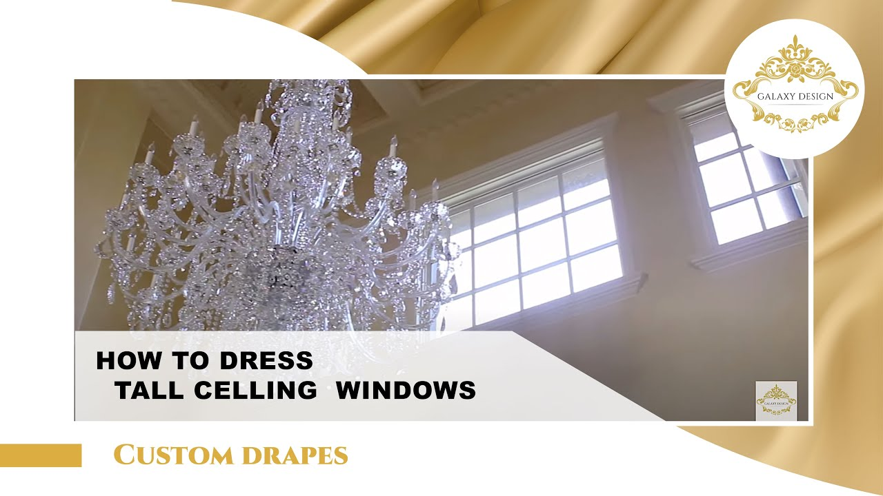 Video 6 High Ceiling Living Room Curtain Design Custom