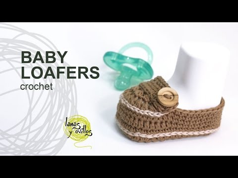 Tutorial Baby Loafers Moccasins Crochet In English Youtube