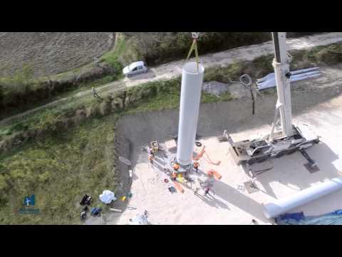 Northern Power NPS 60-24 installation in Pietranico Italy