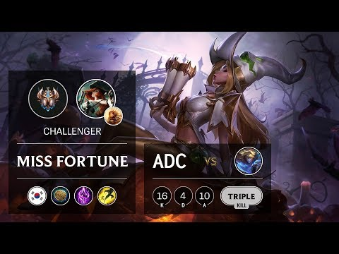 Miss Fortune ADC Vs Ezreal - KR Challenger Patch 9.21