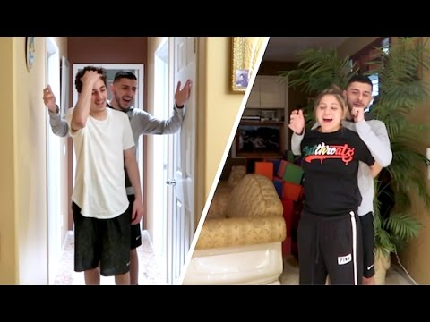 SURPRISING MY BROTHER & MY GIRLFRIEND!
