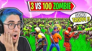 3 SUPERSTITI VS 100 ZOMBIE *NUOVA SERIE* (SERVER PRIVATI) | Fortnite ITA