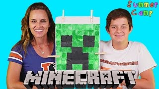 Summer Camp - Making a Minecraft Creeper Shirt Homemade Do It Yourself Minecraft by DCTC