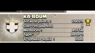 Présentation de clans #3 - KA-BOUM / Clash of Clans