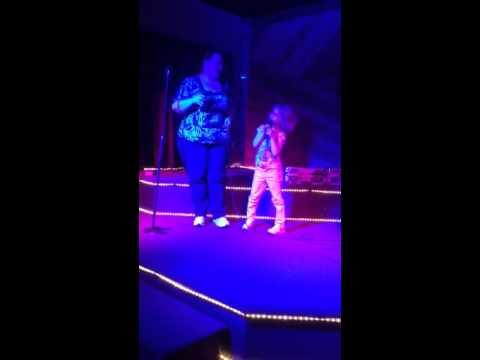 Diana and Marisa karaoke night